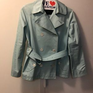 Burberry short green trench coach 🧥